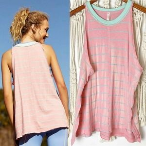 NWT Free People Movement Tank Top SZ M Faded Pink